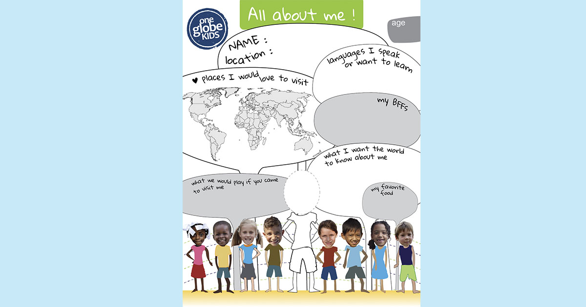 """All about me"" printable for the diverse classroom"